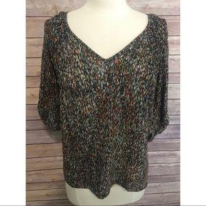 Anthro Ett:Twa multicolor knit t-shirt top